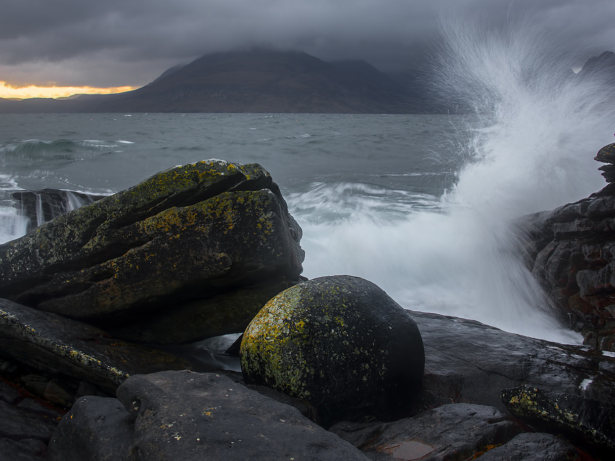 GROUP 1 18 STORMY SUNSET ELGOL by Alan Cork