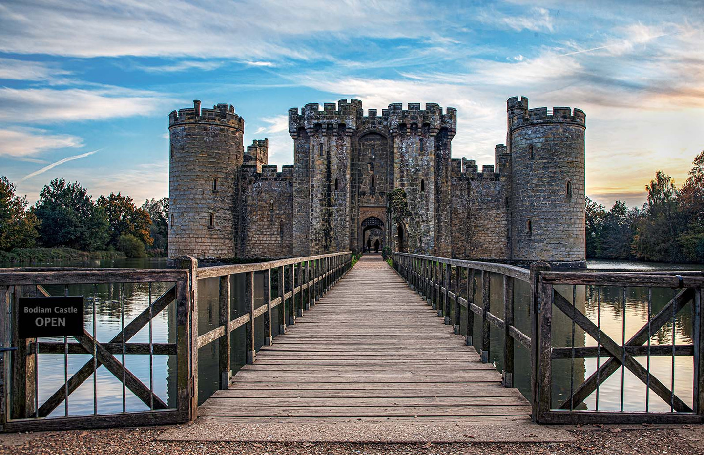 16 SHOWING THE WAY INTO TO BODIAM CASTLE by Philip Easom