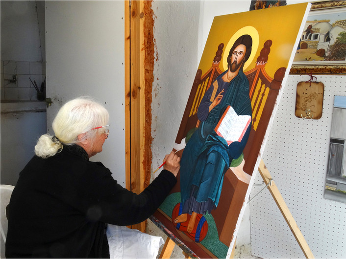 17 ICON PAINTER, CYPRUS by Brian Whiston
