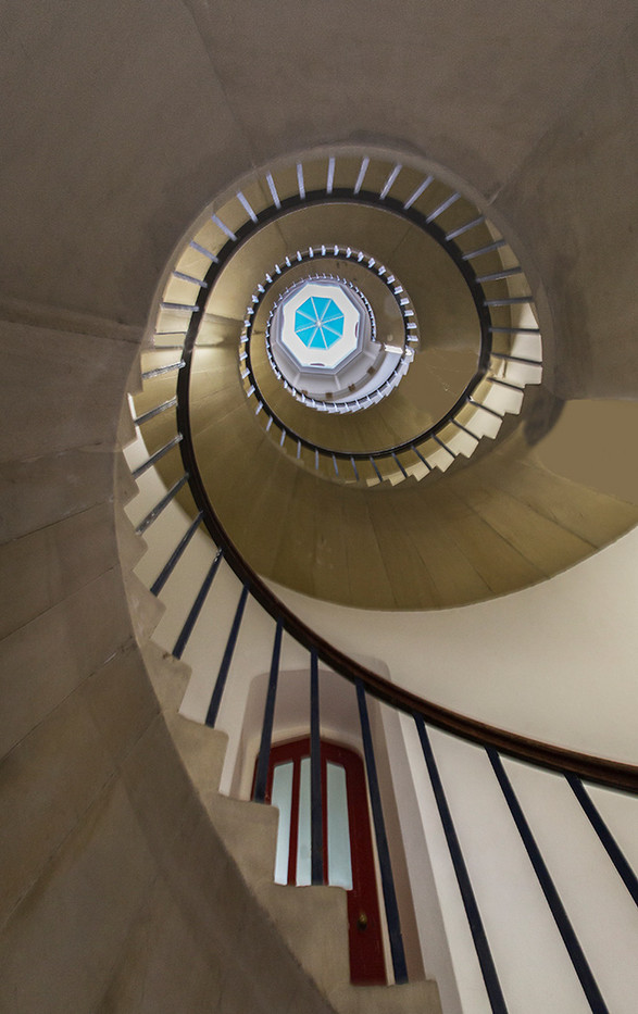 20 (1st) THE SPIRAL STAIRCASE AT SAINT JOHN'S COLLEGE by Graham Bunyan