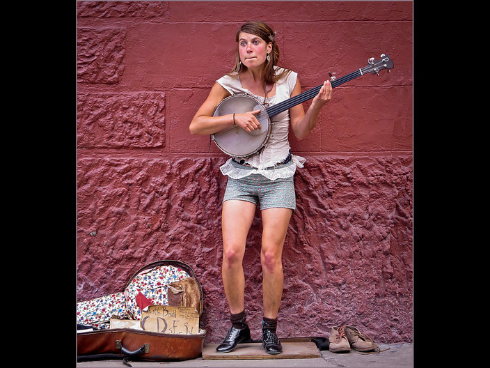 18 TAP DANCING WITH BANJO by Cathie Agates