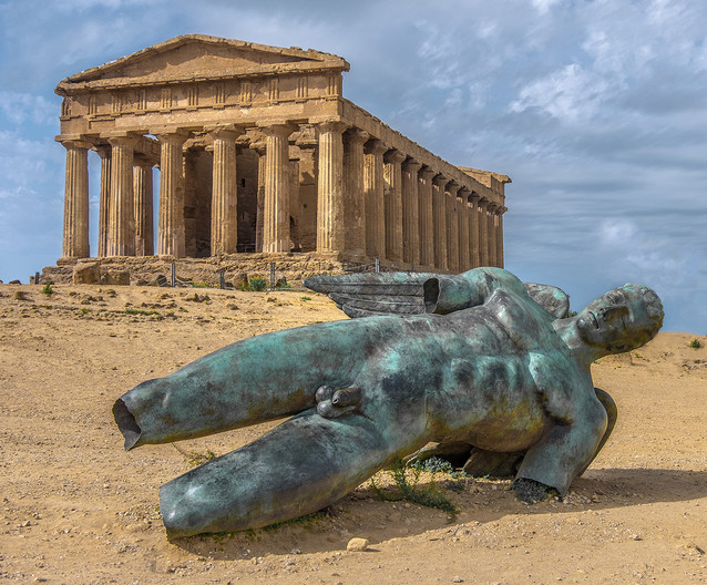 15 TEMPLE AND COLOSSUS AT AGRIGENTO by Colin Hurley