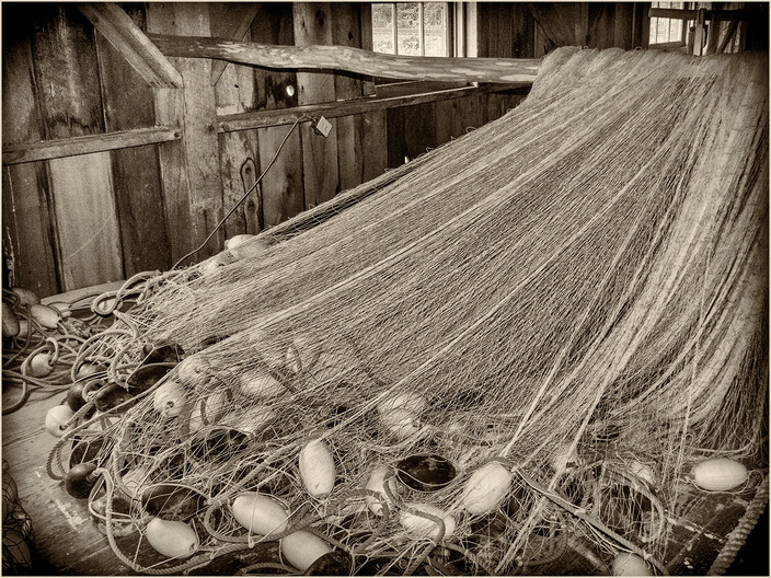 16 NETS AWATING REPAIR by Cathie Agates