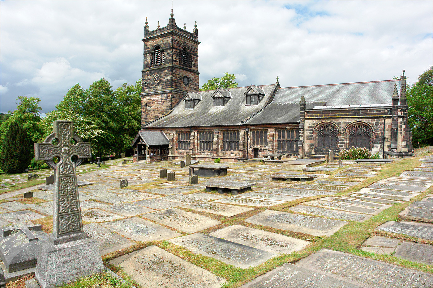 16 ST MARY ROSTHERNE GRAVEYARD by Brian Whiston