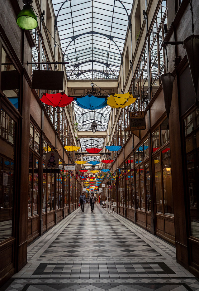 17 BROLLIES IN PARIS by Terry Day