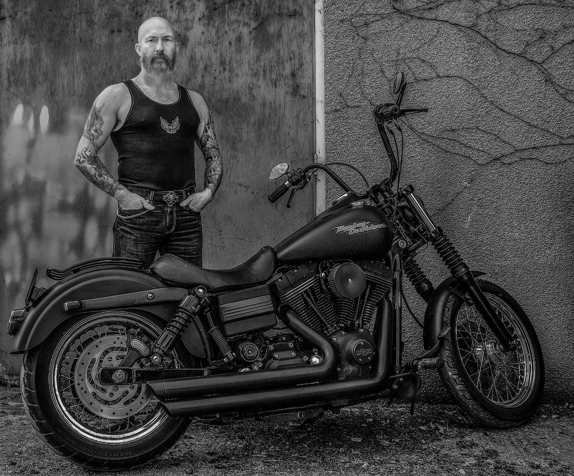 19 ME AND MY HARLEY by John Lewis