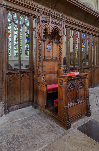 16 THE BISHOP'S THRONE ALL SAINTS  CHURCH MAIDSTONE by Chris Rigby