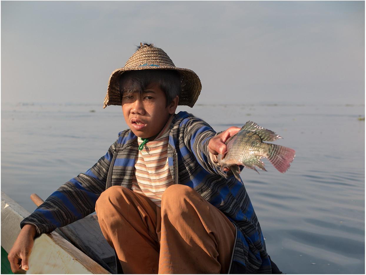 17 YOUNG FISH SELLER by David Parkinson