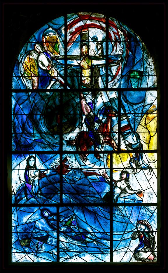 18 MARC CHERGALL EAST WINDOW AT ALL SAINTS CHURCH TUDELEY by Philip Easom