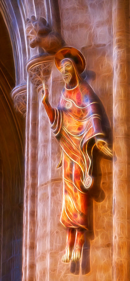 16 ELY CATHEDRAL FIGURE by Carole Lewis