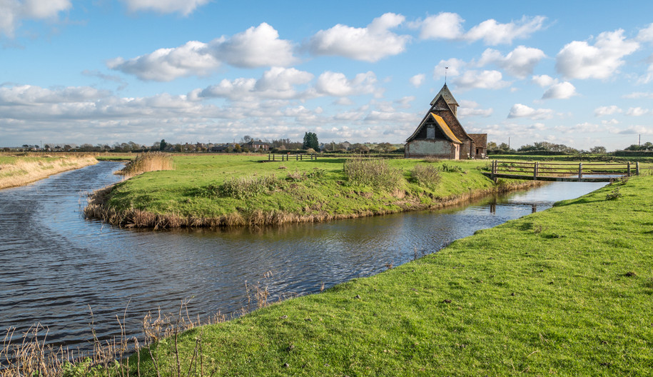 17 THE LITTLE CHURCH ON THE MARSH by Roger Wates