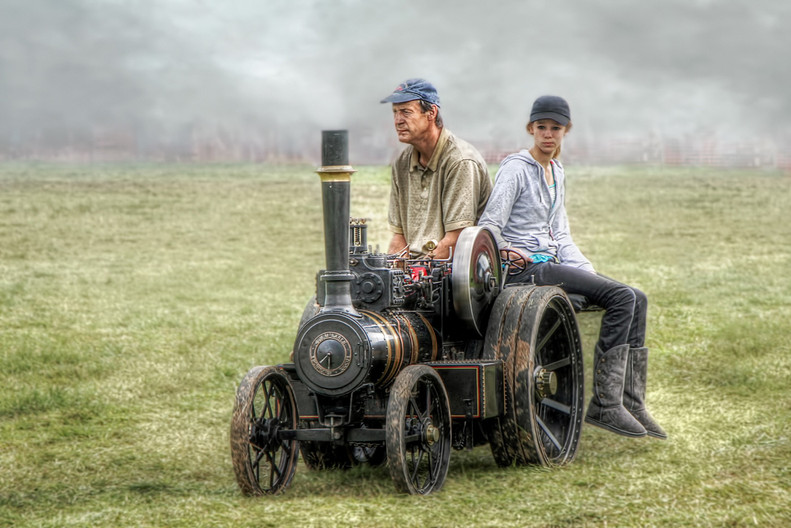 17 AT THE STEAM FAIR WITH DAD by Pam Sherren