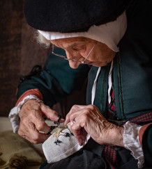 16 TUDOR EMBROIDERER by Roger Wates