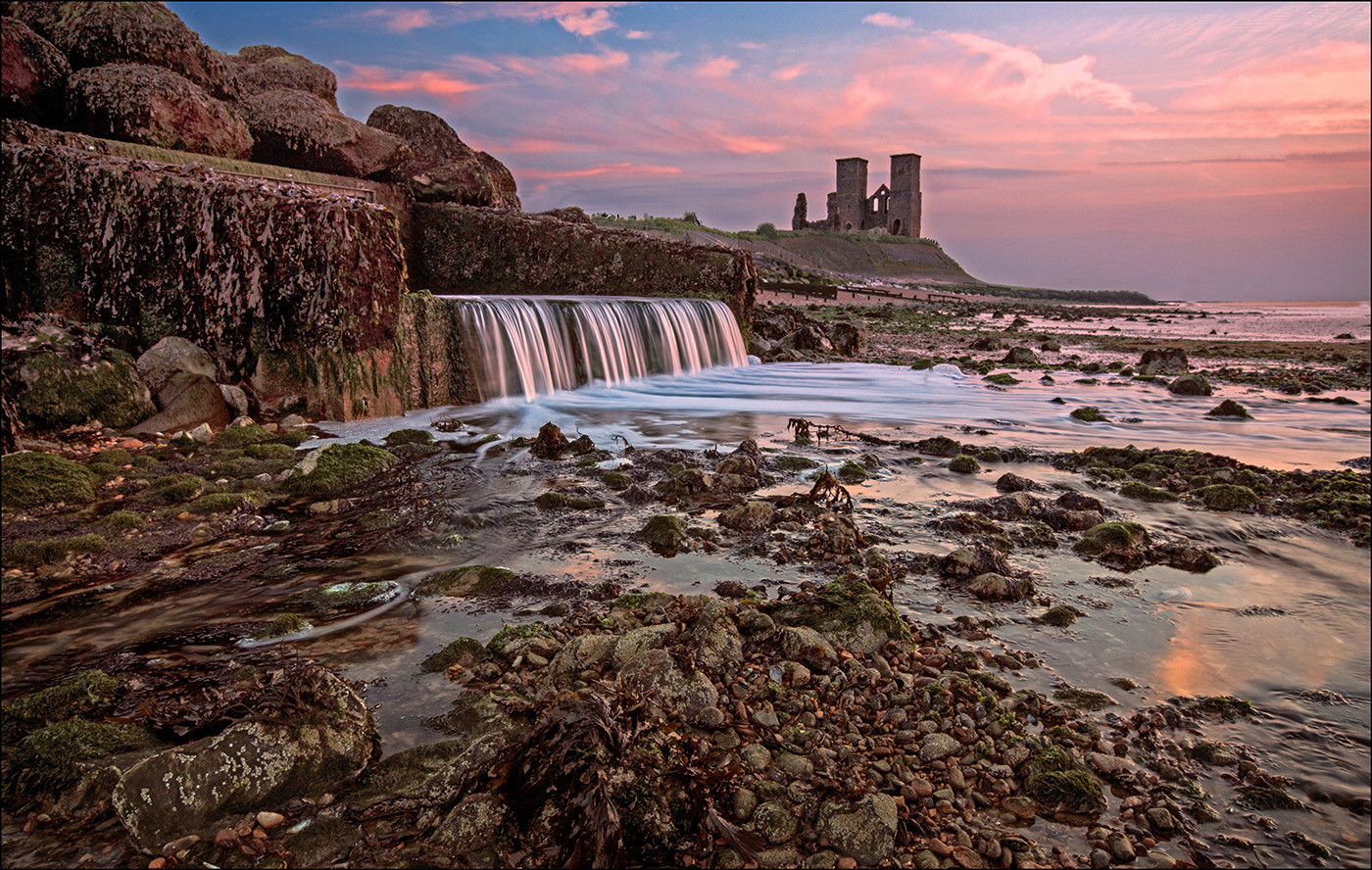 19 GOING DOWN OF THE SUN AT RECULVER by Graham Bunyan