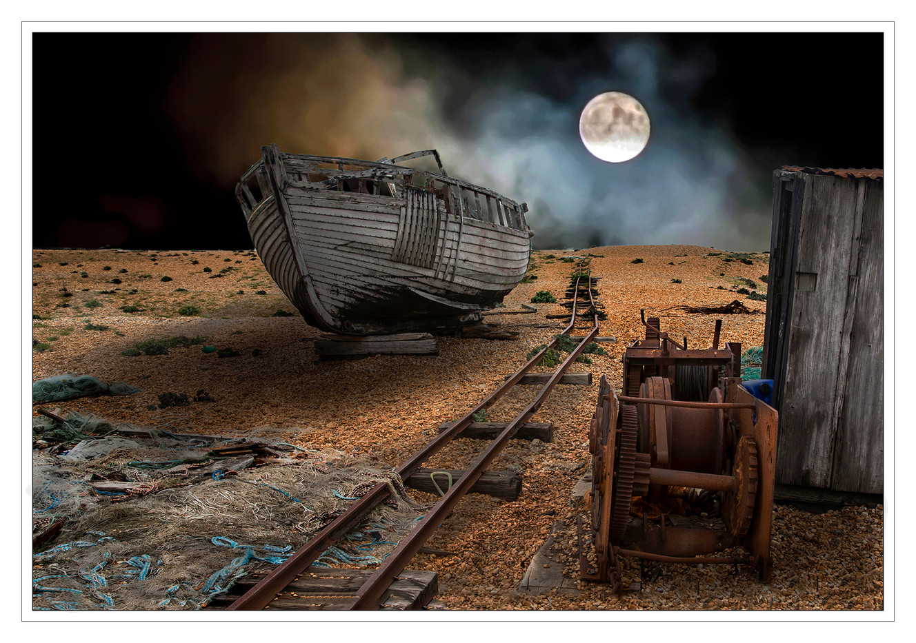 18 DUNGENESS FICTION MOONSCAPE by Mike Shave
