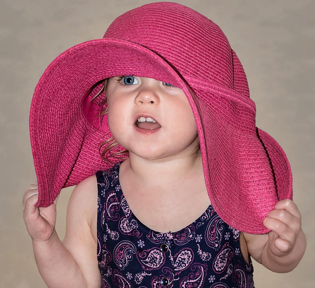 18 MY PINK HAT by Pam Sherren