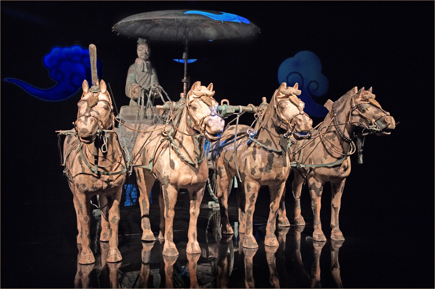 19 BRONZE CHARIOT AND HORSES OF THE TERRACOTTA WARRIORS by Dave Brooker