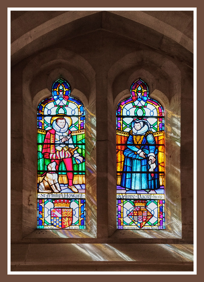 PRINT 5 points ARUNDEL CATHEDRAL WINDOW by Dave Brooker