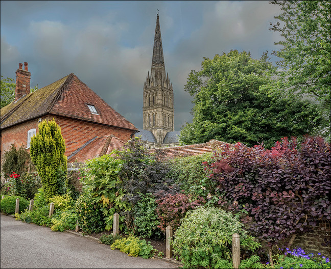 14 ROADSIDE VIEW OF THE CATHEDRAL by Jacky Bunyan