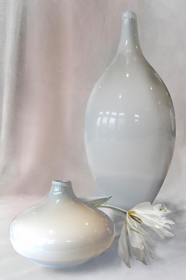19 TWO GLASS POTS by Jenny Clark
