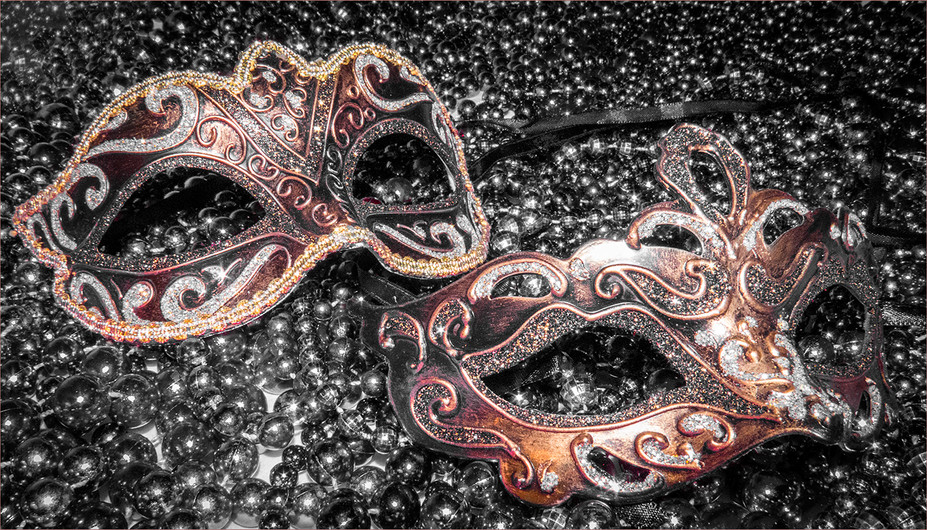 15 CARNIVAL MASKS by Cathie Agates