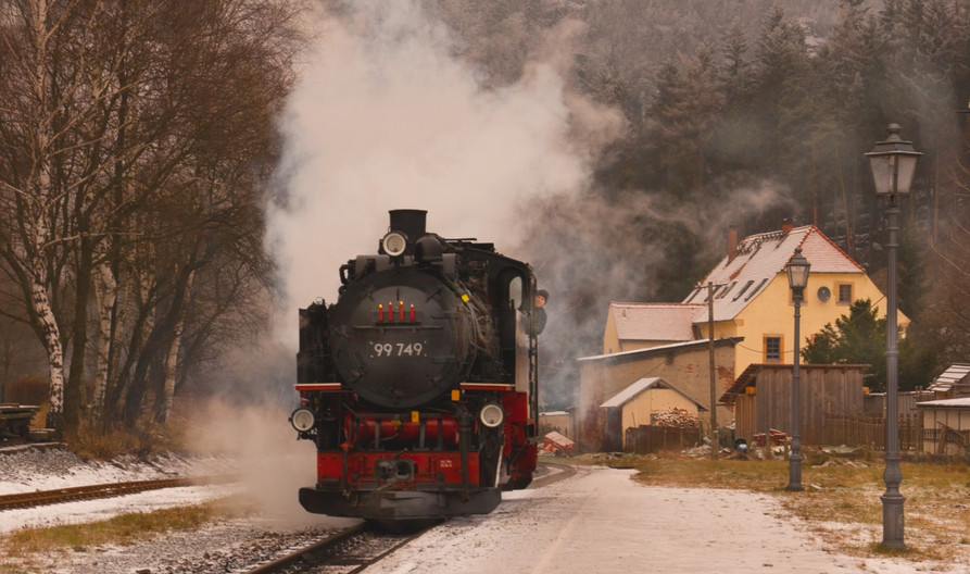15 SAXONY STEAM RAILWAY by Clive Brewer