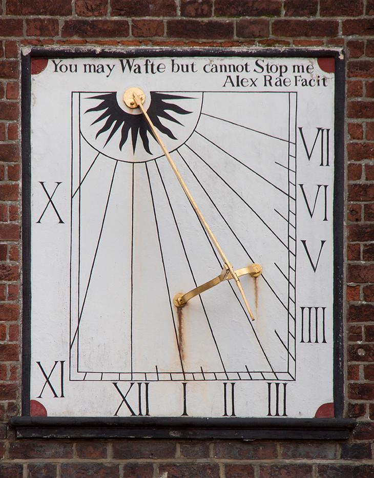 17 PRINT SUNDIAL KING CHARLES THE MARTYR CHURCH, TUNBRIDGE WELLS by Colin Burgess