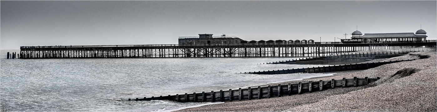 17 HASTINGS PIER OUT OF SEASON by Colin Hurley