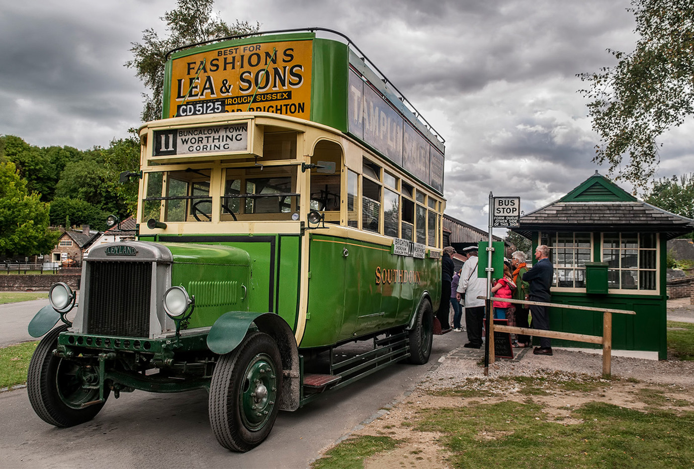 17 SOUTHDOWN BUS LEYLAND TYPE N by Ann Paine