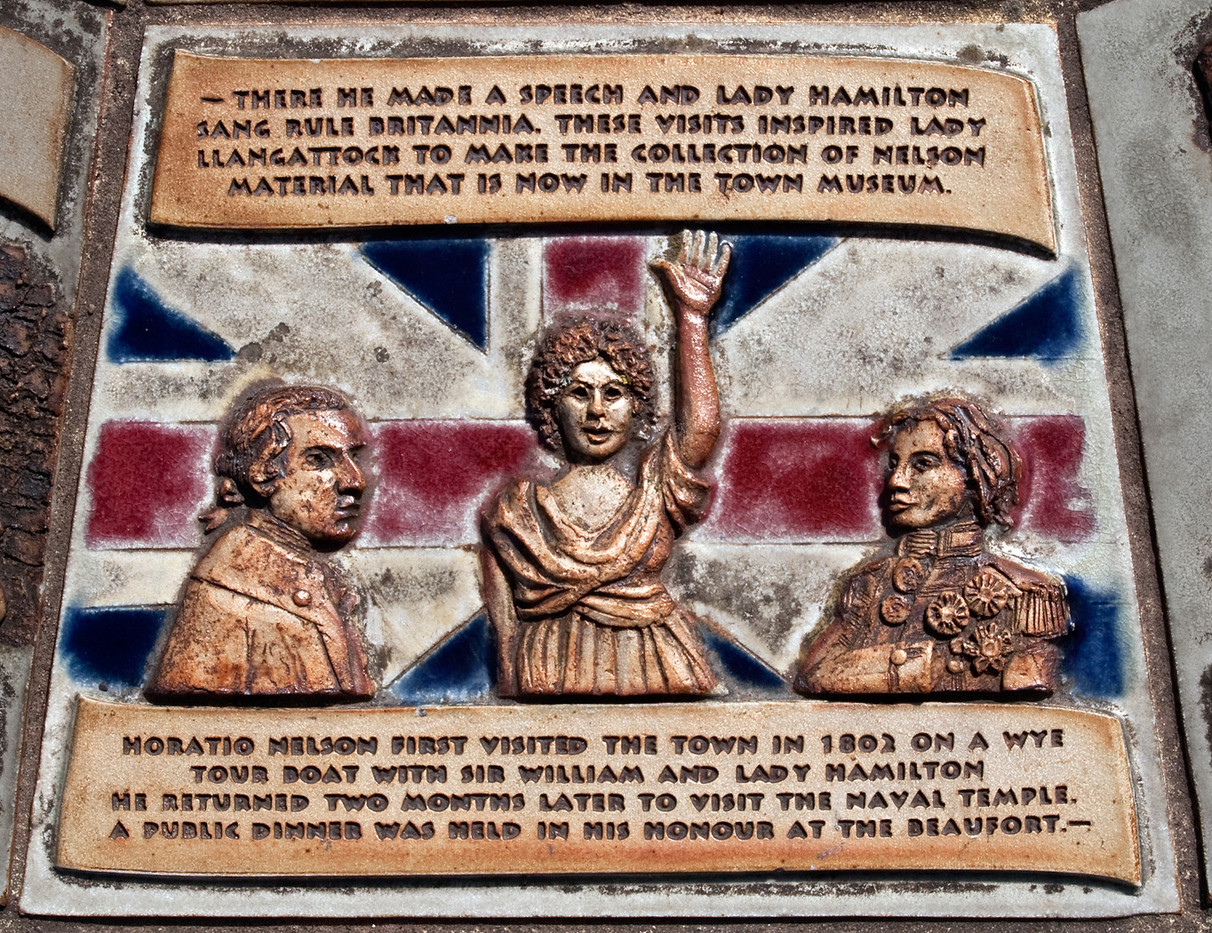 13 TILE COMMEMORATING NELSON S VISIT TO MONMOUTH by Peter Tulloch