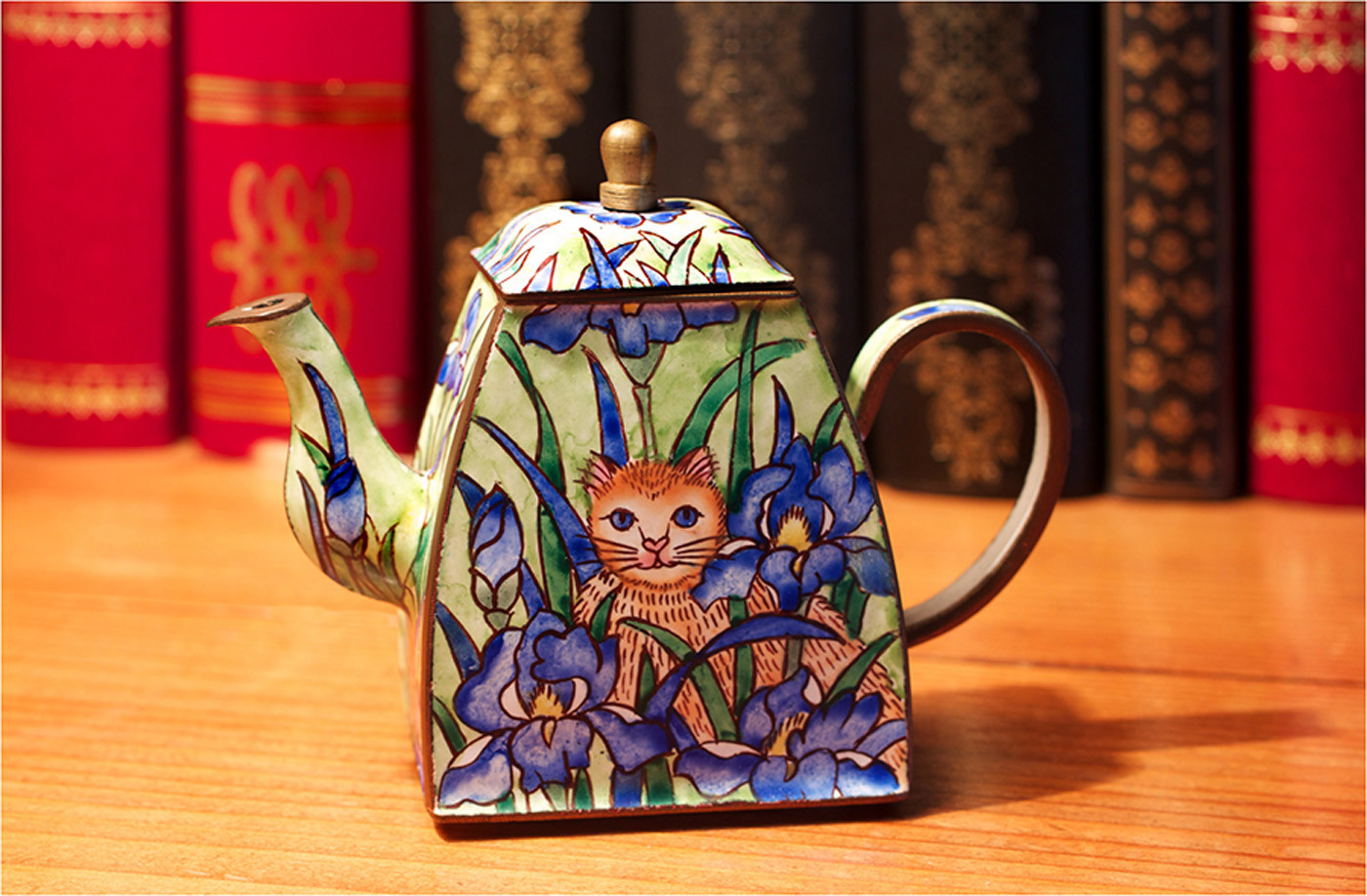 18 ETHNIC ART ORNAMENTAL TEAPOT by Dave Brooker