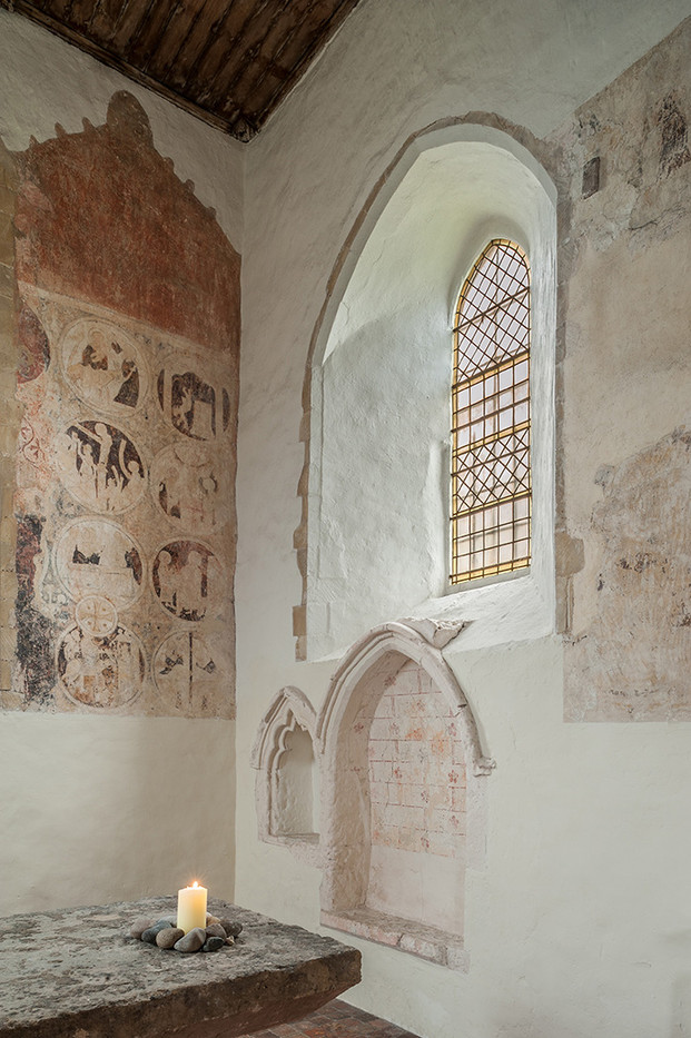 18 MEDIEVAL WALL PAINTINGS ST MARYS  CHURCH BROOK KENT by Chris Rigby