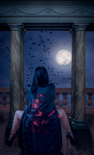 19 MURMURATION BY MOONLIGHT by Tony Hill