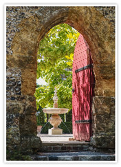PRINT 31 points 2nd DOOR TO ARUNDEL CASTLE GARDENS by Dave Brooker