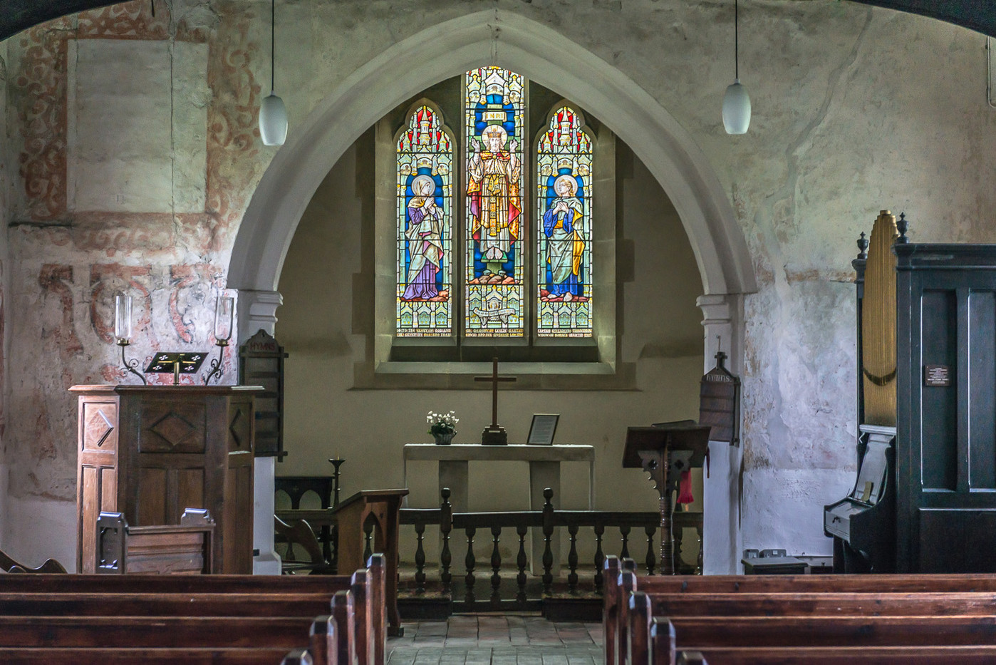 19 INTERIOR OF ST THOMAS A BECKET, CAPEL by Chelin Miller