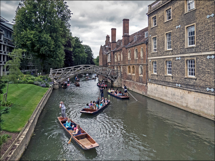 18 MATHEMATICAL BRIDGE OVER THE RIVER CAM by Jackie Bunyan
