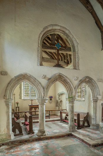 17 CHANCEL SCREEN WITH ROOD LIGHT CHURCH OF ST MARY CAPEL LE  FERNE KENT by Chris Rigby
