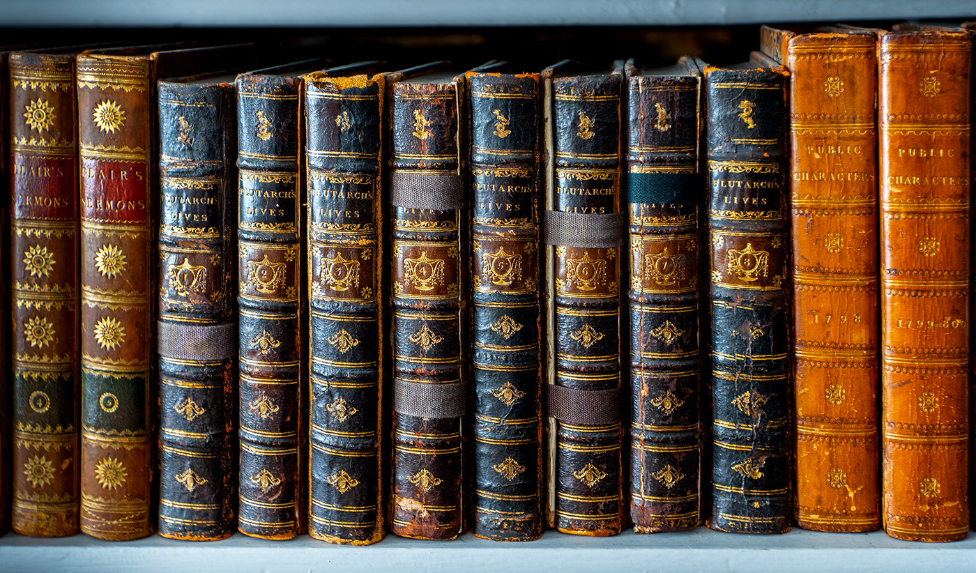 PRINT 20 EIGHT VOLUMES OF PLUTARCH'S LIVES, IGHTHAM MOTE by Philip Easom