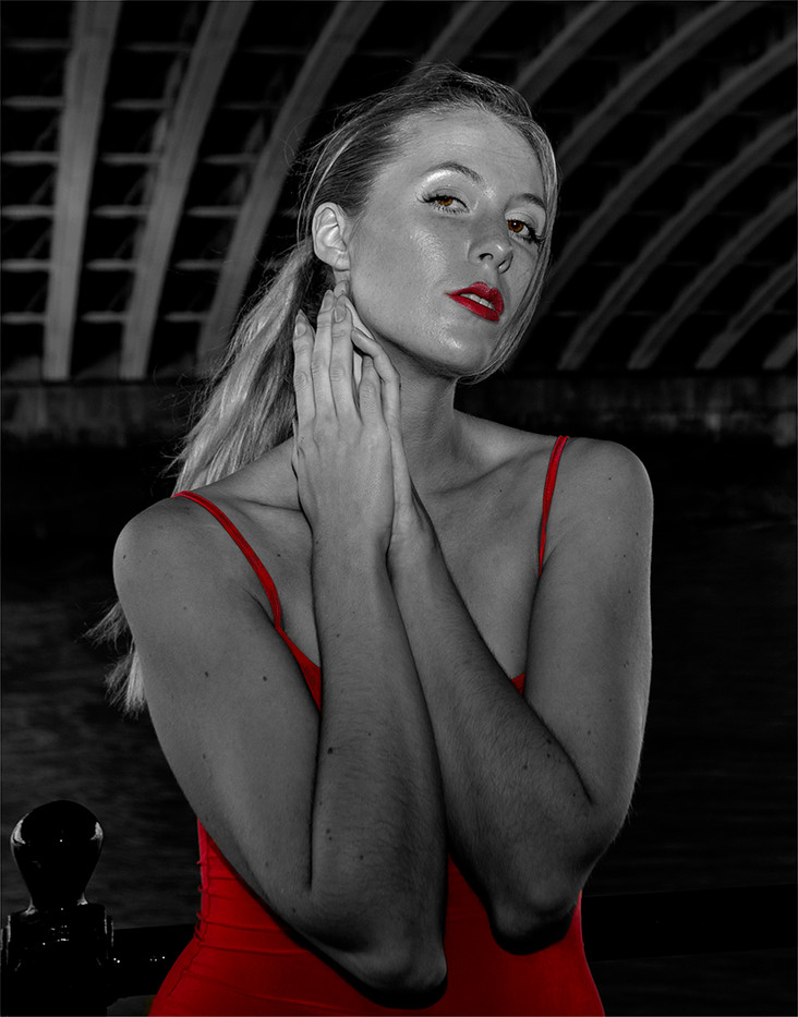 15 KATIE IN RED by Philip Easom