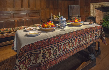 15 STRANGERS HOUSE, NORWICH, TABLE SET FOR CHRISTMAS by Alan Cork