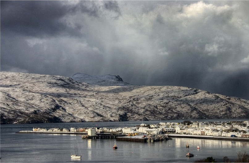 18 STORM OVER ULLAPOOL by Dave Brooker