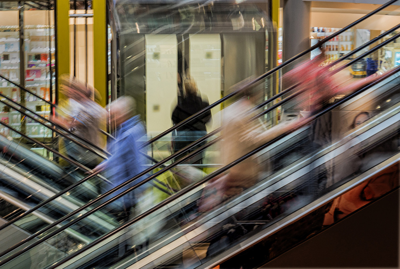18 LIFT OR ESCALATOR by Les Welton