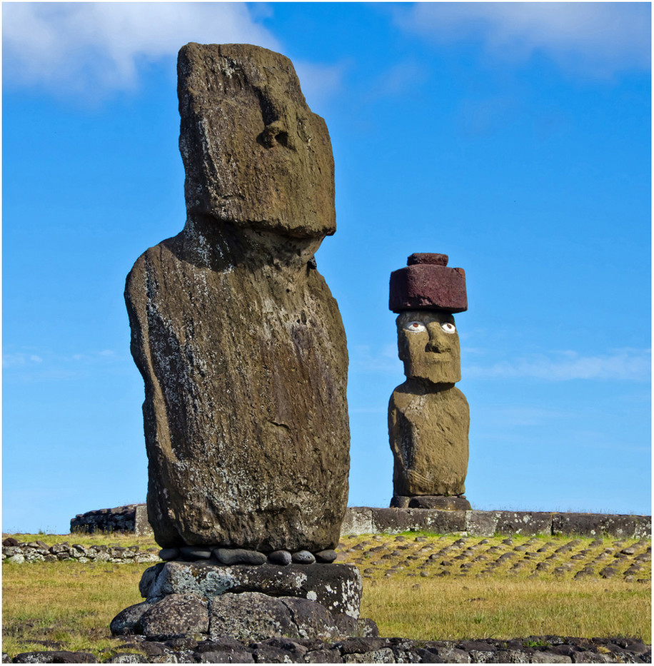 15 WHERE'S YOUR HAT- EASTER ISLAND by Joan Gow