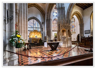 PRINT 14 points CATHEDRAL ALTAR AREA by Mike Shave