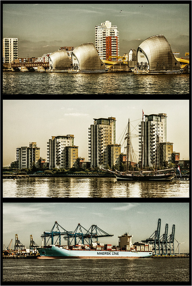 GROUP 1 14 THE THAMES TRIPTYCH by Brian Barkley