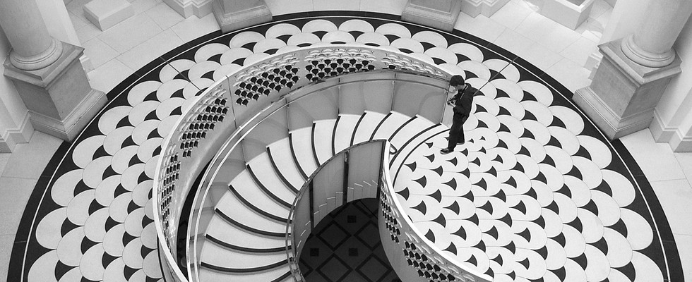 TATE BRITAIN STAIRCASE by Philip Smithies