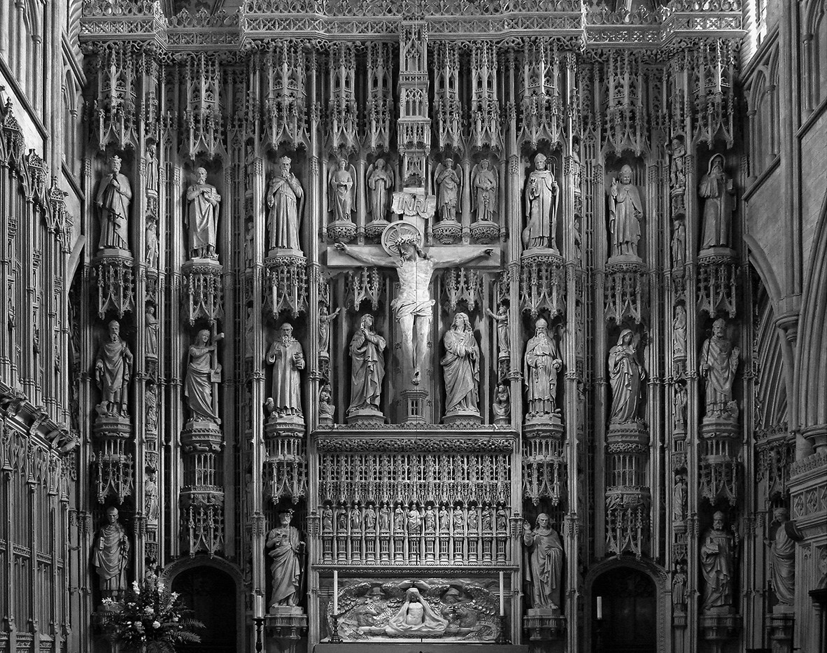 15 HIGH ALTAR DETAIL ST ALBANS by Peter Tulloch