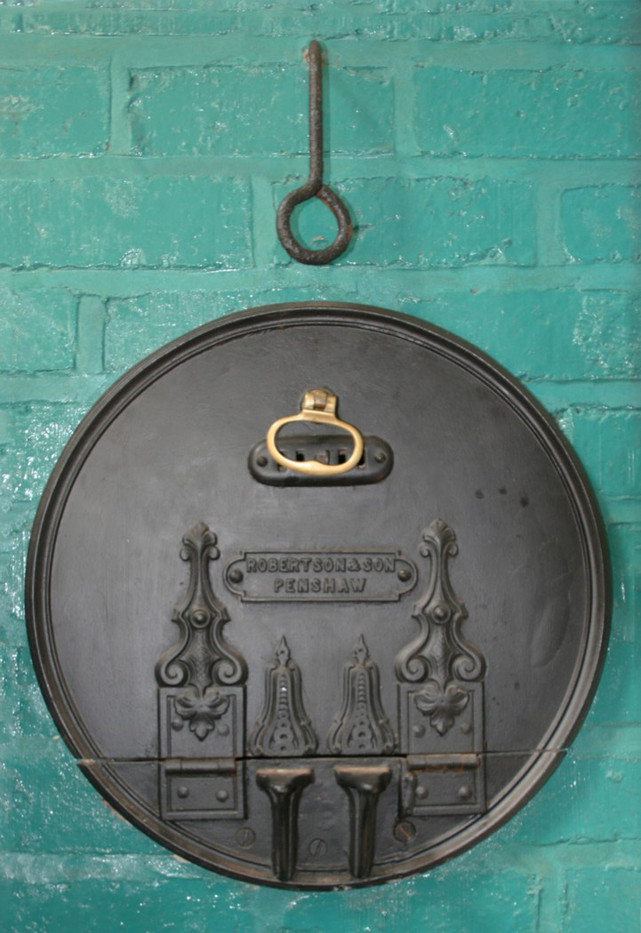 17 CAST IRON OVEN DOOR AT BEAMISH by Clive Brewer