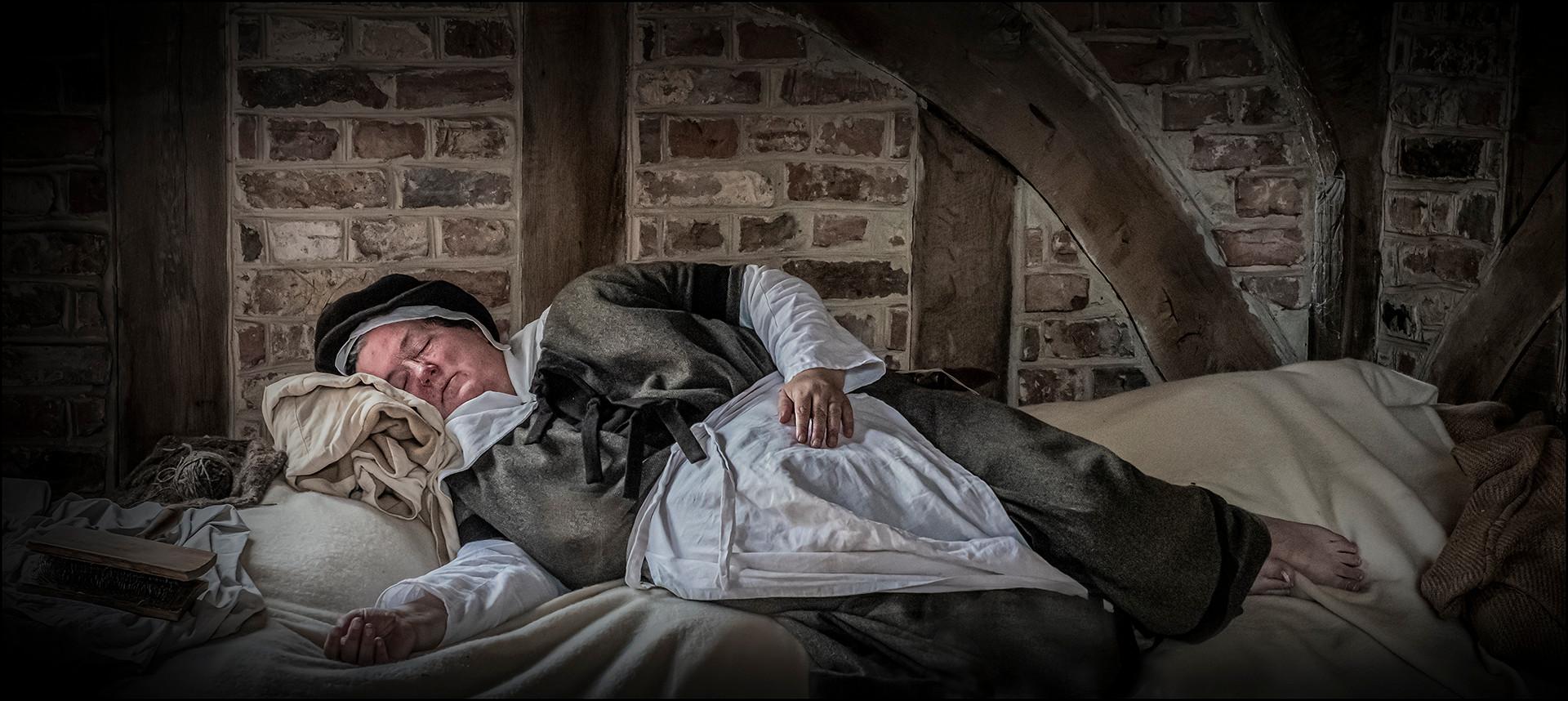 20 SLEEPING WOOL WORKER by Mick Dudley