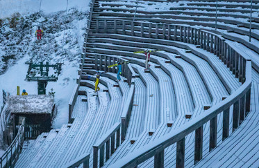 16 SKI JUMPERS READY TO GO by Penny Skoyles